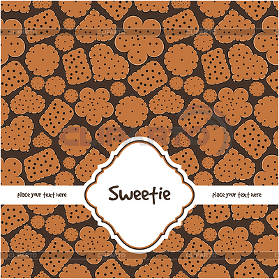 Grußkarte mit süßen Plätzchen | Stock Vektorgrafik |ID 3311695