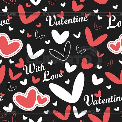 День Св. Валентина - бесшовный фон | Векторный клипарт |ID 3324115