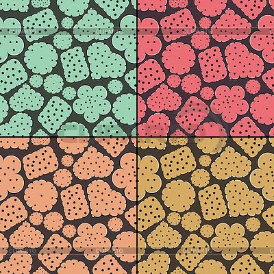 원활한 패턴 네 가지 쿠키의 설정 | 벡터 클립 아트 |ID 3331518