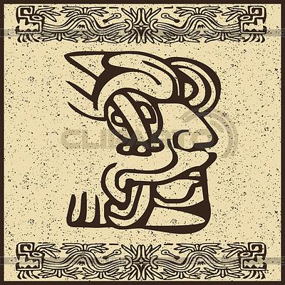 Aztekisches Piktogramm als Gesicht | Stock Vektorgrafik |ID 3286808