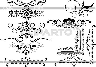 Granice i ozdoby dekoracyjne | Klipart wektorowy |ID 3305451