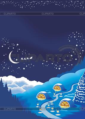 Christmas tła dla karty z pozdrowieniami wakacje | Klipart wektorowy |ID 3304722