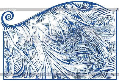 Frost Muster auf Fenster | Stock Vektorgrafik |ID 3304837