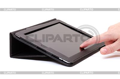 Hands with touch pad | Foto stockowe wysokiej rozdzielczości |ID 3299242