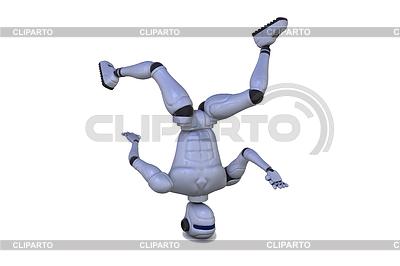 Tancerka na głowie robota | Stockowa ilustracja wysokiej rozdzielczości |ID 3358369