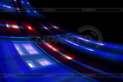 Абстрактные красочные изогнутый дизайн волны на черном | Иллюстрация большого размера |ID 3322229
