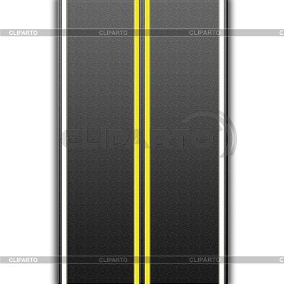 Autobahn mit Straßenmarkierungen | Illustration mit hoher Auflösung |ID 3367283