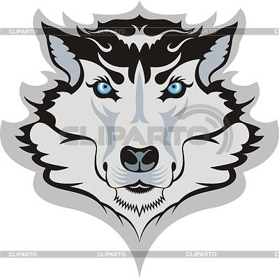 Głowa wilka | Klipart wektorowy |ID 3340447
