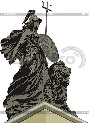 플리머스에있는 브리타니아 동상 | 벡터 클립 아트 |ID 3352341