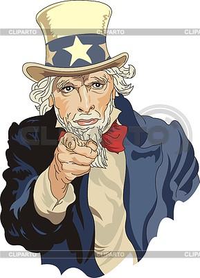 Uncle Sam - uosobienie USA | Klipart wektorowy |ID 3352409