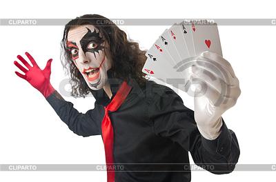 Joker mit Spielkarten | Foto mit hoher Auflösung |ID 3368745