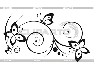 Vignette mit Schmetterlingen | Stock Vektorgrafik |ID 3352460