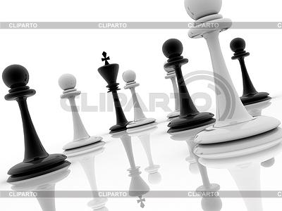 Schachfigur Beratung zu strategischem Verhalten | Illustration mit hoher Auflösung |ID 3357039