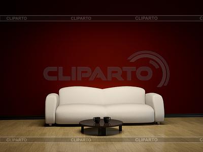 Interieur mit Sofa und Tisch | Illustration mit hoher Auflösung |ID 3371577