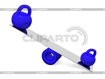 Zwei Gewichte | Illustration mit hoher Auflösung |ID 3381458