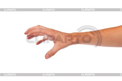 Männliche Hand griff nach etwas | Foto mit hoher Auflösung |ID 3371967