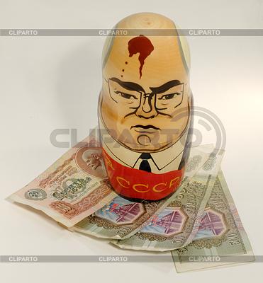 Michaił Gorbaczow w Rosji Nested doll | Foto stockowe wysokiej rozdzielczości |ID 3381098