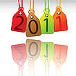 Векторный клипарт: 2011 ярлыки