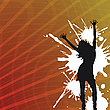 Vector clipart: abstract background with girl silhouette