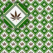Vector clipart: cannabis background texture with detail