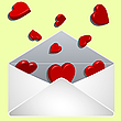 Vector clipart: envelope with love