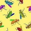 Векторный клипарт: паттерн с мухами