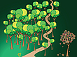 Vector clipart: forest path