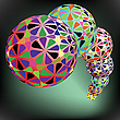 Vector clipart: geometric bubbles pattern