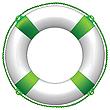 Векторный клипарт: зеленый спасательный круг