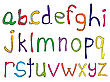 Векторный клипарт: алфавит ручной работы