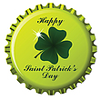 Vector clipart: happy saint patrick bottle cap
