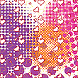 Vector clipart: hearts and bubbles pattern