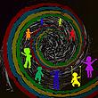 Векторный клипарт: Дети и Спираль времени