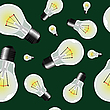 Vector clipart: light bulbs seamless texture