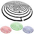 Vector clipart: mazes design elements