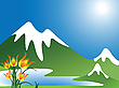 Vector clipart: mountain landscape