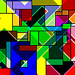 Vector clipart: rectangular abstract pattern