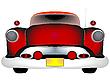 Векторный клипарт: Красный винтажный автомобиль