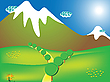 Vector clipart: road to the mountains