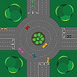 Vector clipart: round intersection