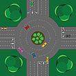 Векторный клипарт: круглый перекресток