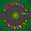 Vector clipart: round parking for cars