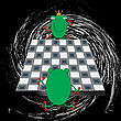 Vector clipart: frogs play chess