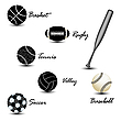 Vector clipart: sport balls against white