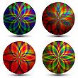 Векторный клипарт: Цветные текстурированные круги