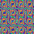 Векторный клипарт: волнистый бесшовный паттерн
