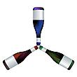 Vector clipart: wine bottles trio