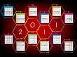 Векторный клипарт: 2011 календарь с сотами