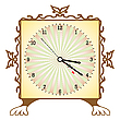 Vector clipart: square clock