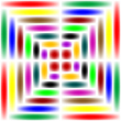 Vector clipart: rainbow square